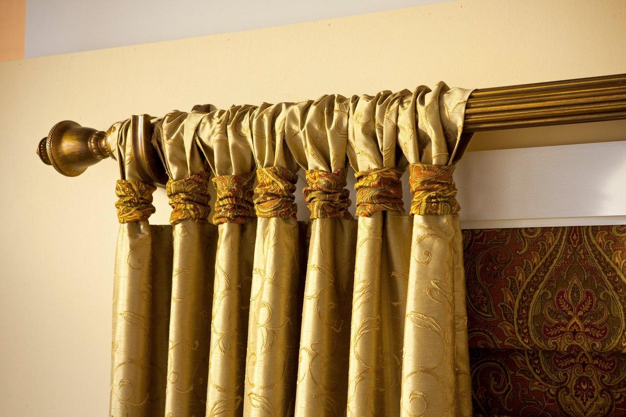 Как обновить старый карниз для штор своими руками